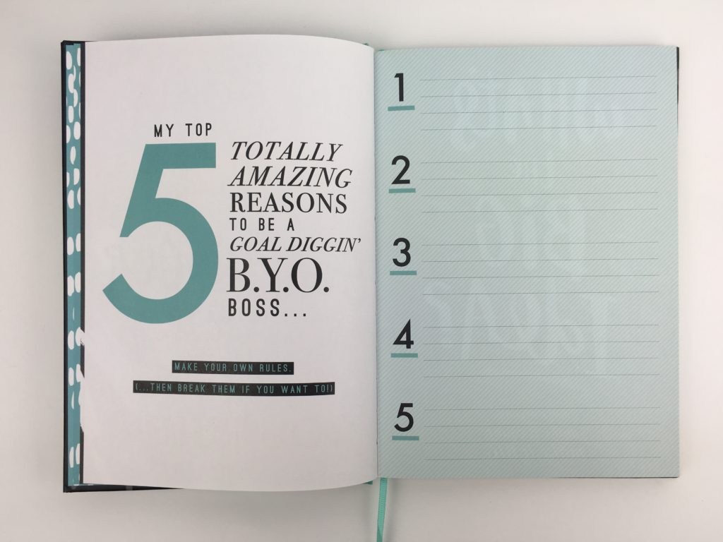 paperchase bossing it planner review undated 1 page per week minimalist goal setting girl boss notebook journal top 5