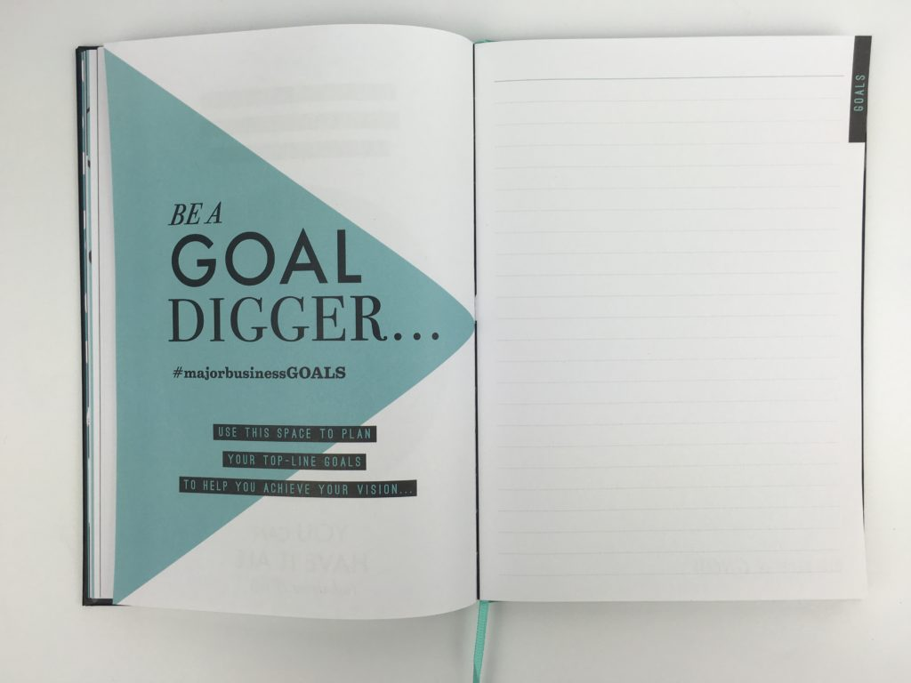 paperchase bossing it planner review weekly 1 page goal setting entrepreneur hardbound cheap affordable united kingdom