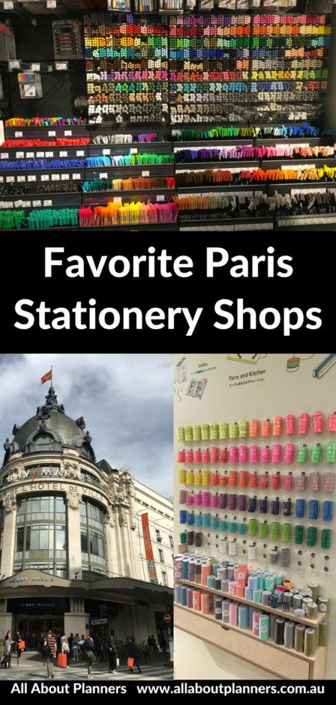 paris stationery shops colorful pen washi tape recommendation paperchase le bhv marais petite pan papier plus planner supplies