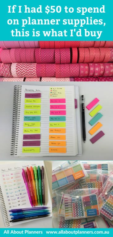 planner supplies 50 dollar budget essential must wish list shopping list all about planners favorites recommended newbie