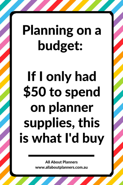 planning on a budget plan with me tips inspiration bujo bullet journal ideas getting started planner less than 50 dollars