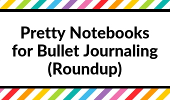 Pretty dot grid notebooks for bullet journaling (roundup)