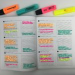 Color coded weekly spread using highlighters in the Pretty Simple Planner