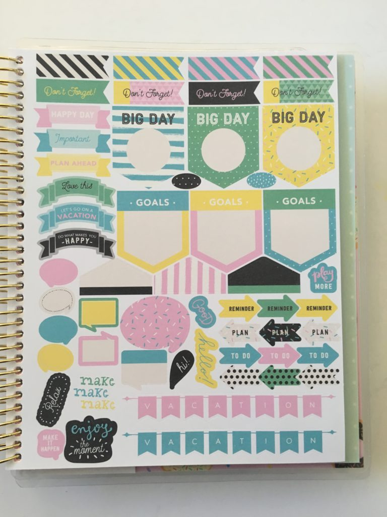 recollections planner stickers bright colorful functional list icon cute cheaper planner to erin condren similar flag banner reminder holiday