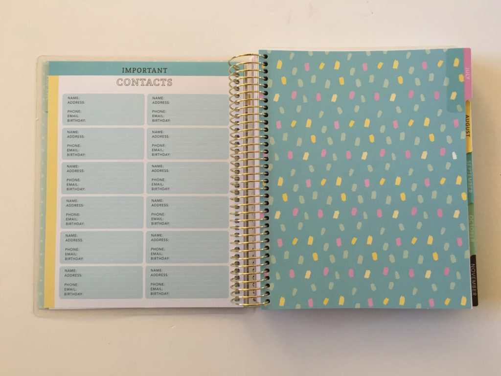 recollections weekly planner review life is sweet donut similar cheaper alternative to erin condren vertical monday start week colorful contacts pattern divider cute