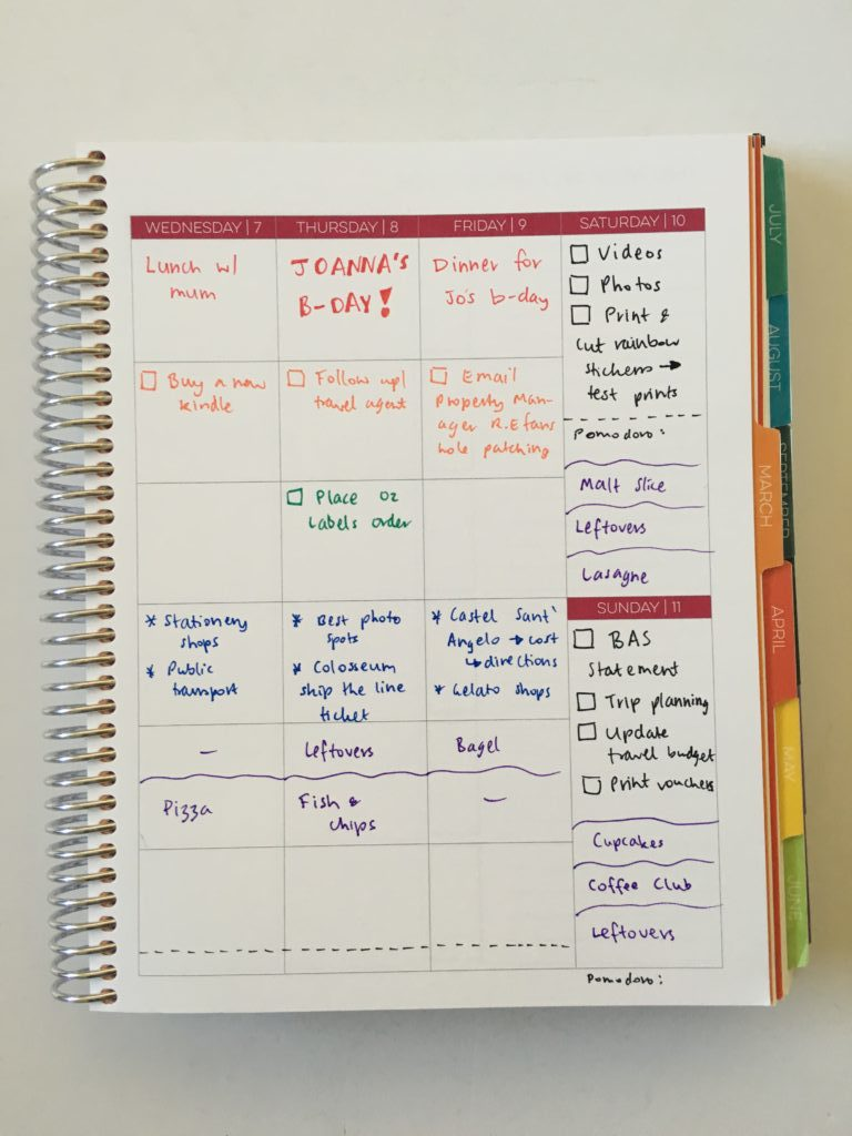 review of the limelife planners layout c weekly spread inspiration ideas tips hacks color coding pros and cons