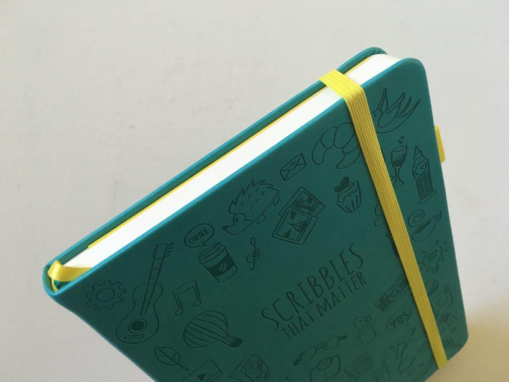 scribbles that matter bullet journal notebook review book sewn bound pros cons pen test bleed through video flipthrough