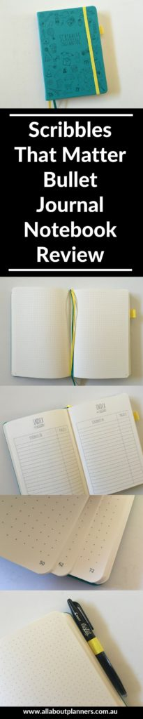 scribbles that matter notebook bullet journal pen testing ghosting bleed through bookbound worth the cost pros and cons bujo-min