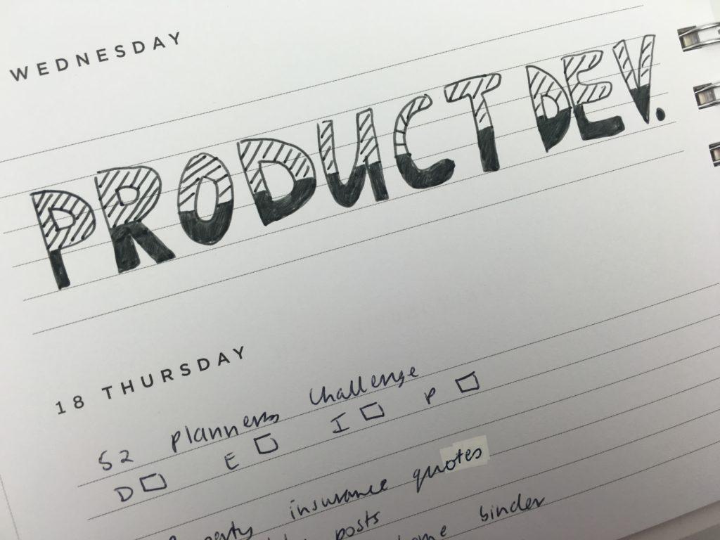 simple planner decorating ideas titles pattern black pen bullet journal header inspiration plan with me