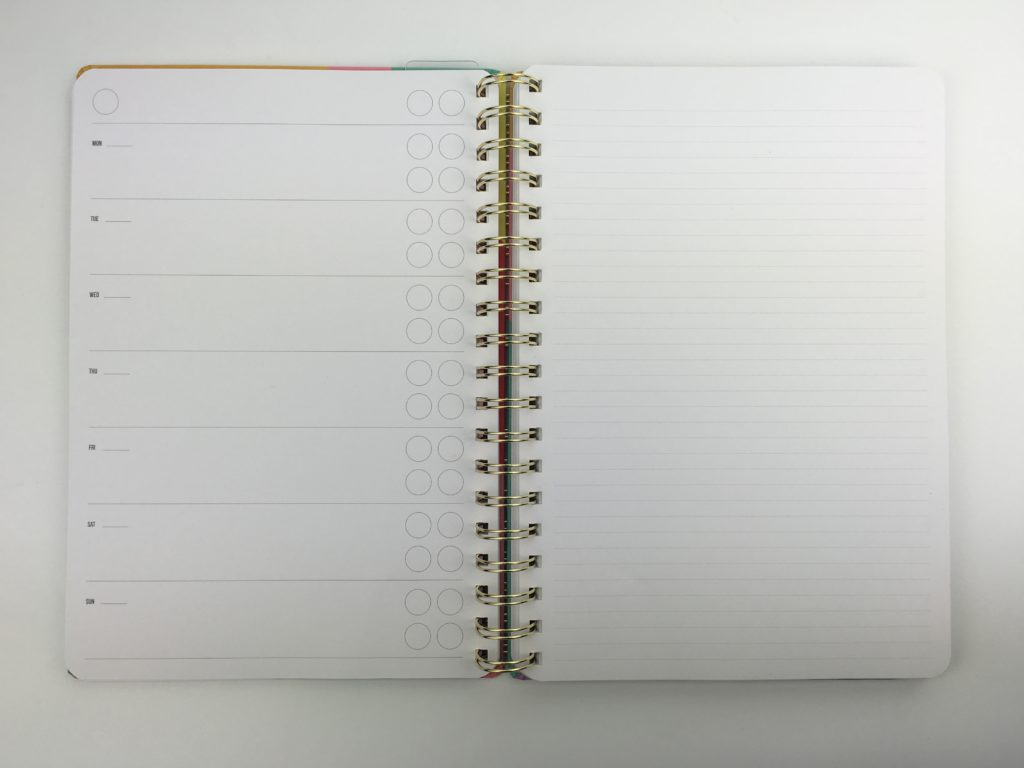 studio stationery weekly planner 2 page horizontal undated cutre functional cheap affordable european monday week start horizontal 2 page spread simple minimalist