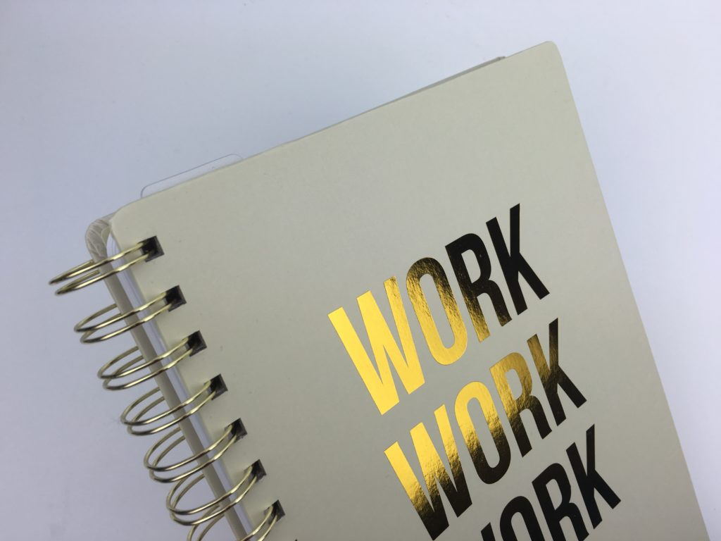 studio stationery weekly planner undated cutre functional cheap affordable european monday week start horizontal 2 page spread simple minimalist gold foil work