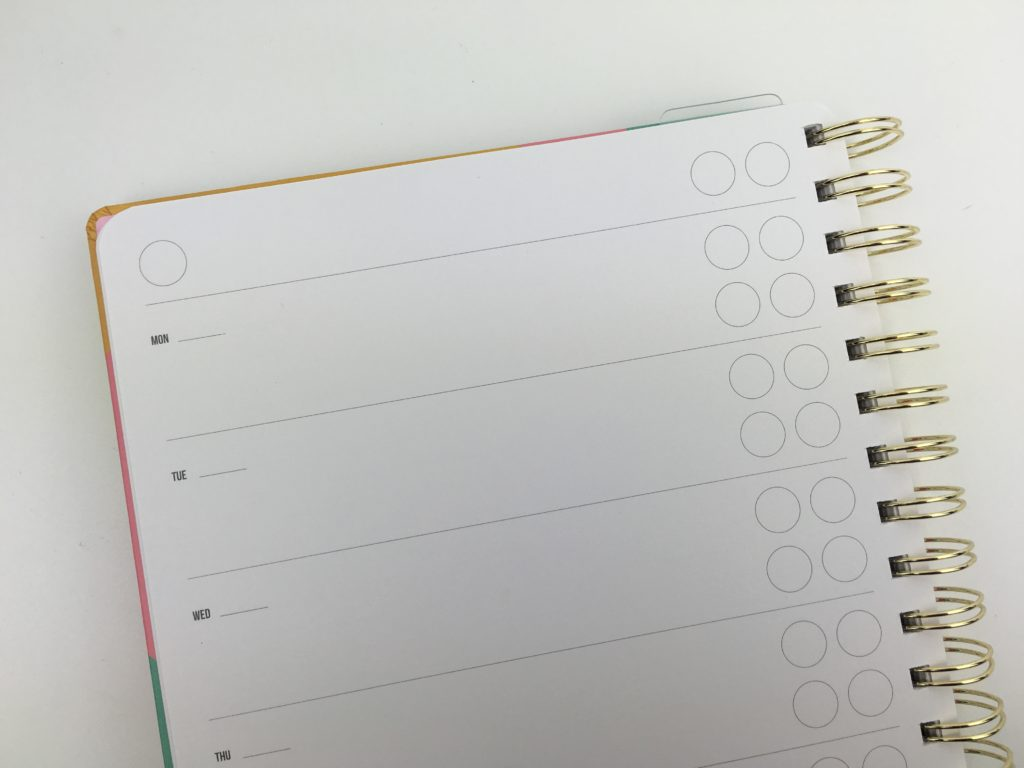 studio stationery weekly planner undated cutre functional cheap affordable european monday week start horizontal 2 page spread simple minimalist monday week start