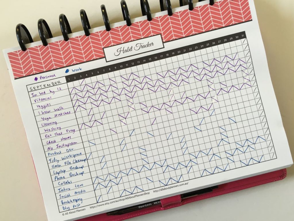picture about Bullet Journal Habit Tracker Printable identified as 12 Planner Design Suggestions for Month to month Routine Monitoring inside Your