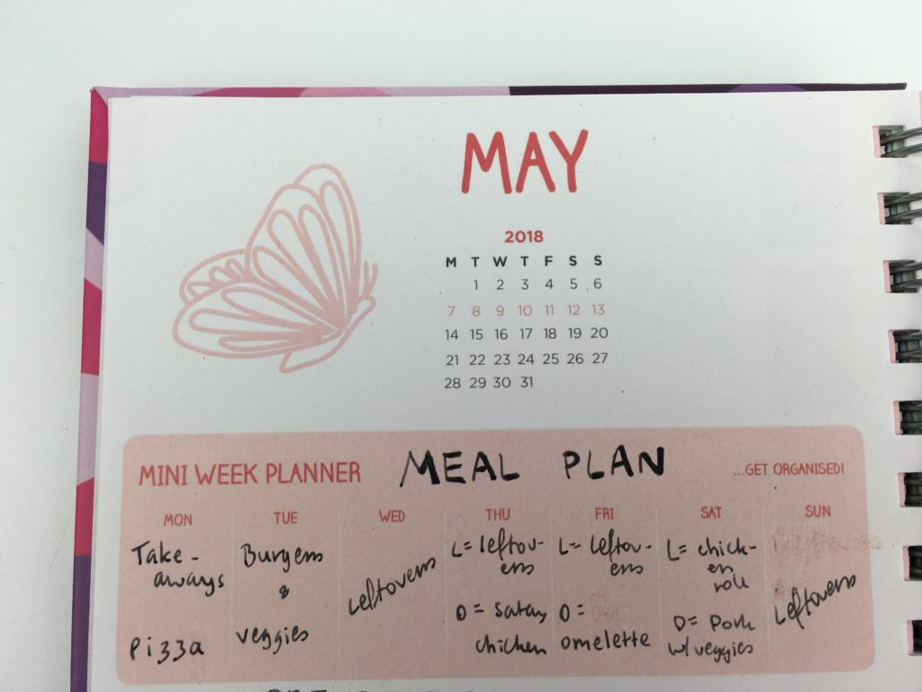 unique planners by pirongs review weekly spread meal plan blog planner small handwriting a5 size made in the united kingdom