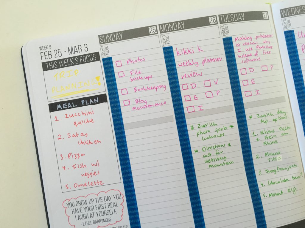 using the passion planner weekly spread layout ideas washi tape color coding blog planning vertical school pen recommendation tips ideas inspiration minimalist