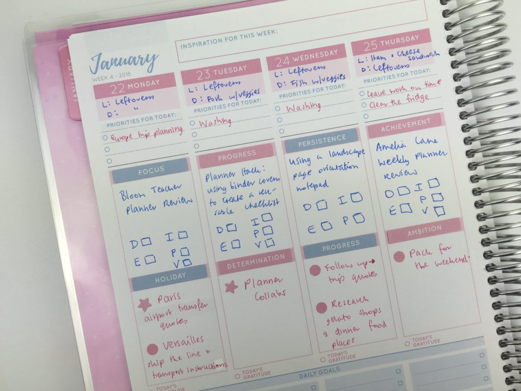vertical planner decorating ideas pink and blue theme simple minimalist cute colorful inspiration otto goals weekly planner australia alternative to recollections planner sticker-min