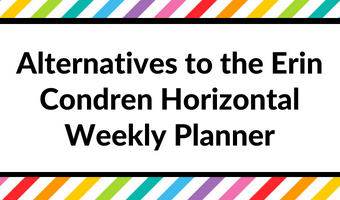 Alternatives to the Erin Condren Horizontal Weekly Planner (Planner Roundup)