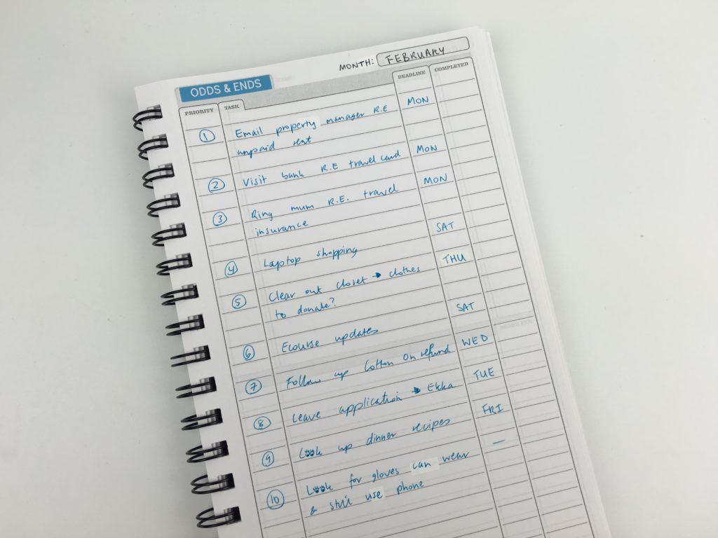 checklist must do should do categories due date tasks color coding planning without a weekly planner alternative to traditional systems