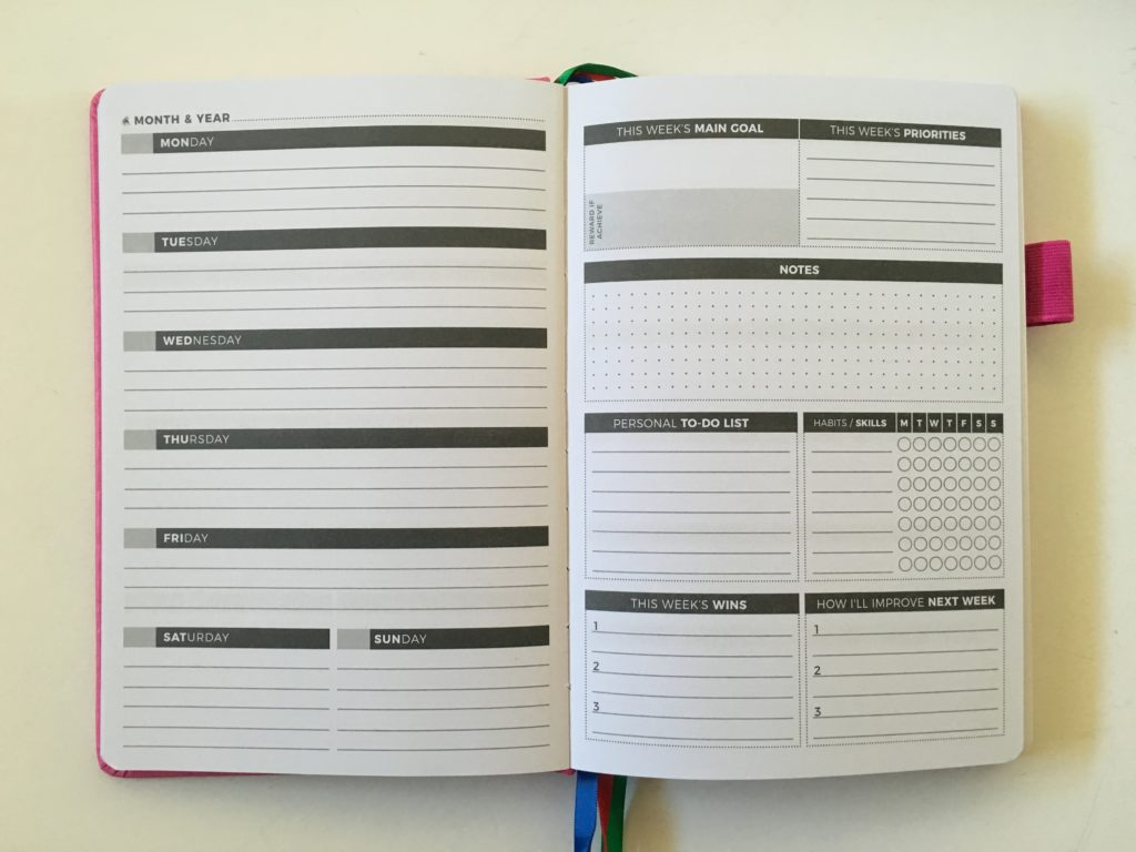 clever fox weekly planner review monday start horizontal simple minimalist habit tracking undated alternative to bullet journal