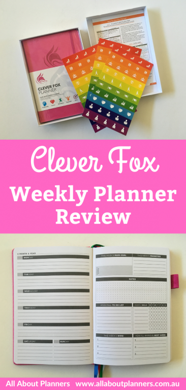 clever fox weekly planner review pros and cons dashboard layout monday week start minimalist lined unlined habit tracker dot grid sewn bound affordable