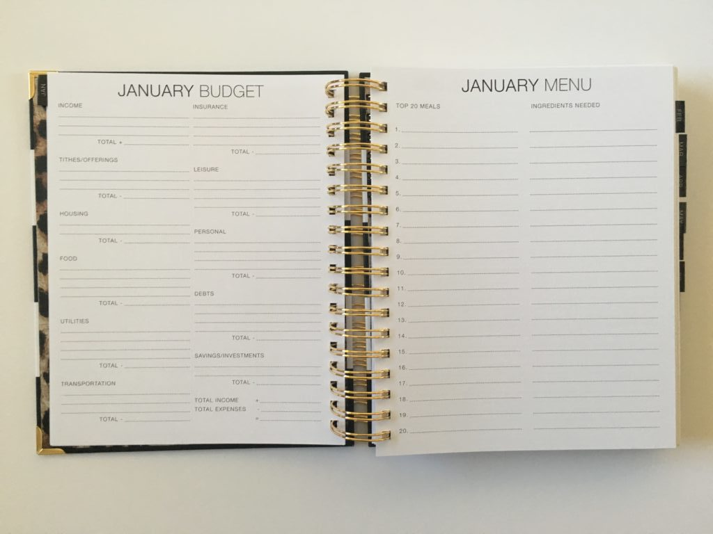 corie clark purposeful planner monthly planning pages menu plan budget monday start calendar daily day to a page vertical hourly scheduling mom