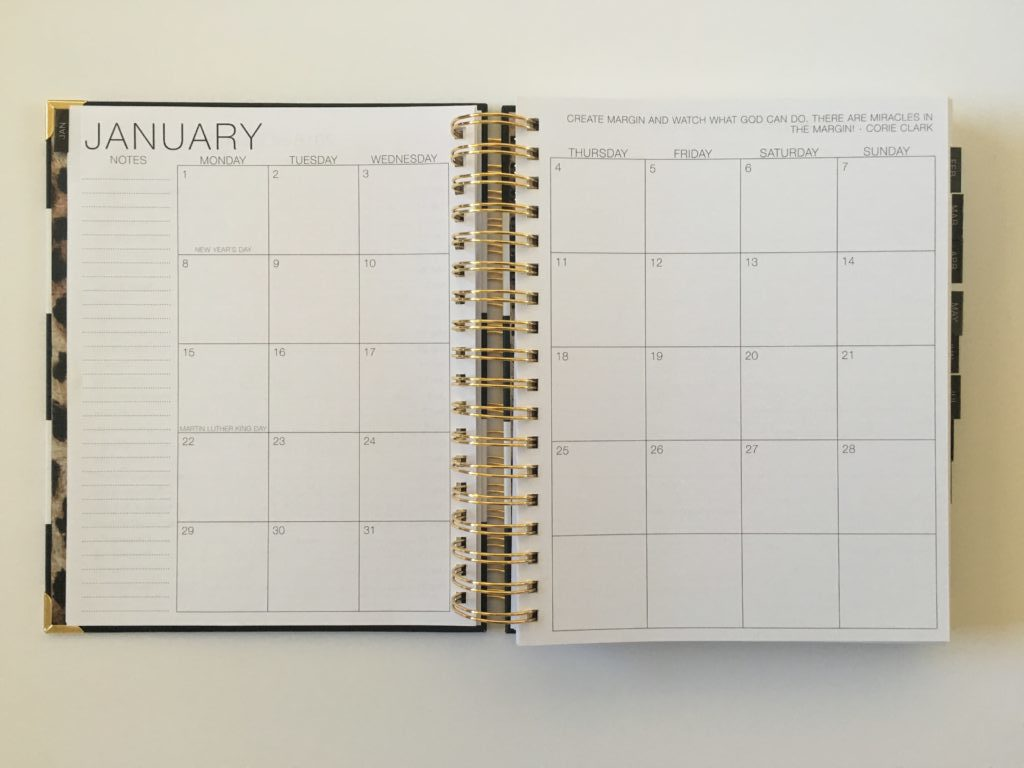 corie clark purposeful planner review daily monthly calendar monday start simple daily weekly vertical