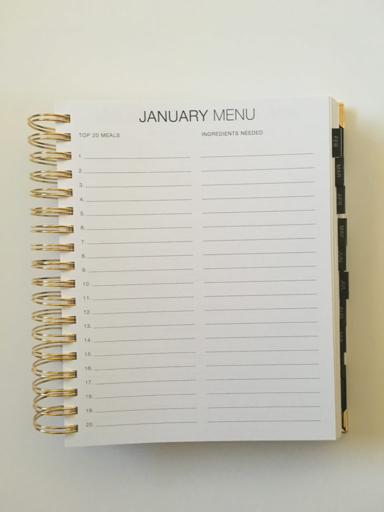 corie clark purposeful planner review monthly menu planner daily weekly hourly vertical layout goal setting mom family planner