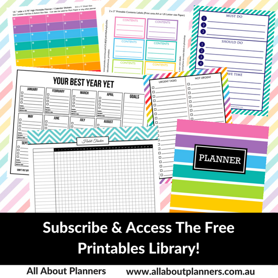 free printables library sign up all about planners blog image graphic subscribe