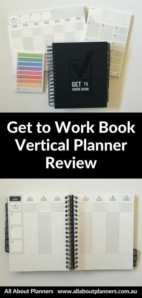 get to work book planner review vertical cheaper alternative to erin condren lined minimalist monday week start gender neutral