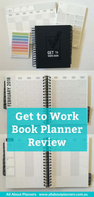 get to work book weekly planner review vertical hourly minimalist neutral type a personality goals top 3 wire bound monday week start gender neutral