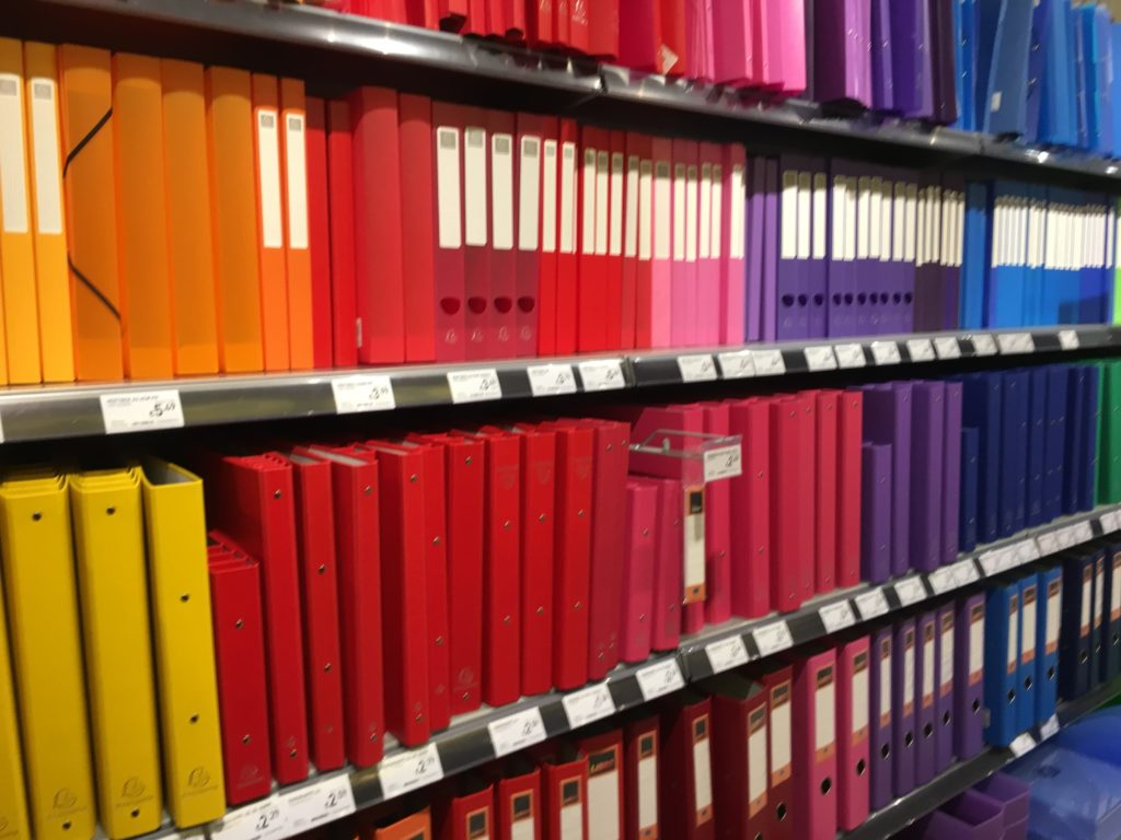 libro stationery store austria favorite places for planning shopping in europe cheap affordable rainbow folders-min