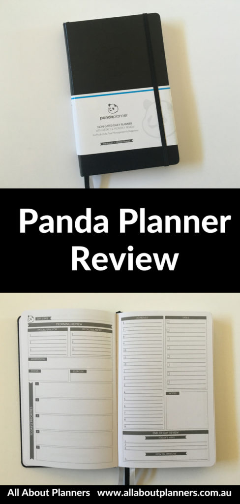 panda planner daily review minimalist pros and cons weekly undated a5 size compact portable habit tracker goal setting honest