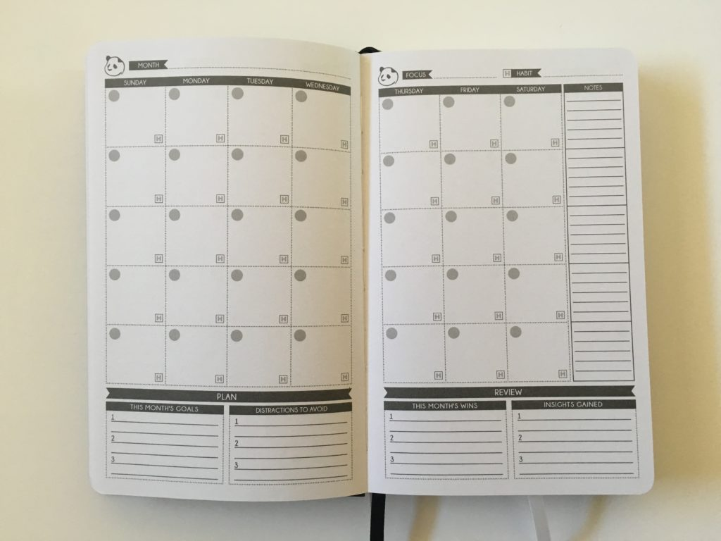 panda planner monthly calendar undated monday week start gender neutral lined minimalist top 3 pros and cons review