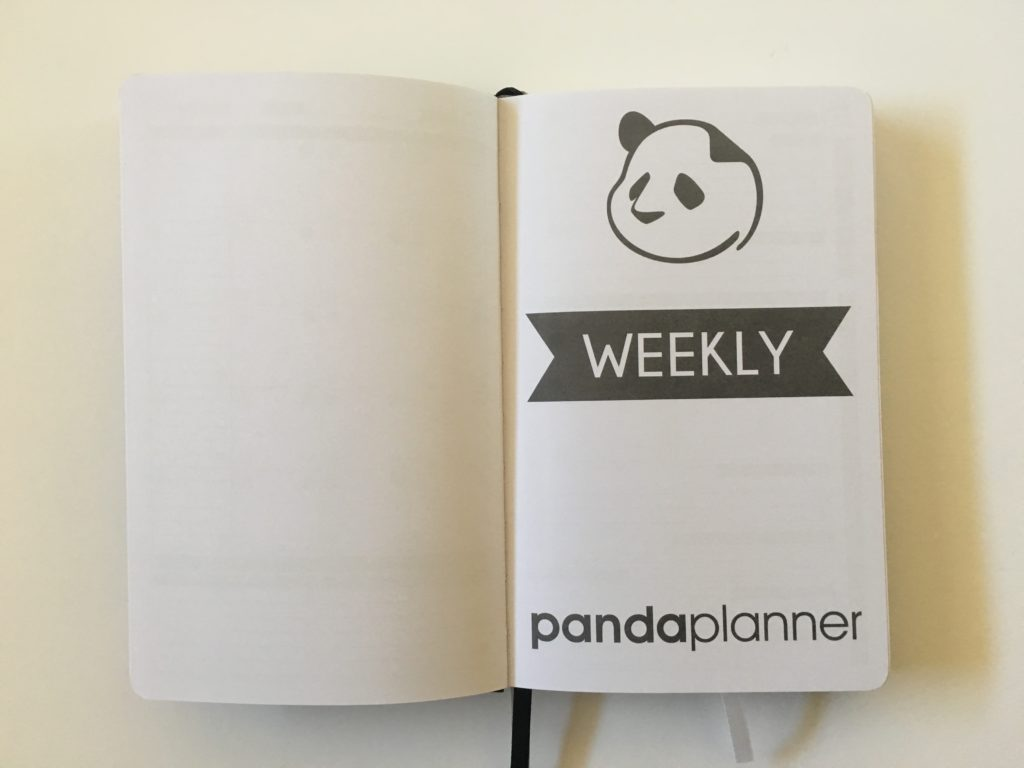panda planner weekly planner review small portable comparison to passion planner law of attraction undated 2 pages per day