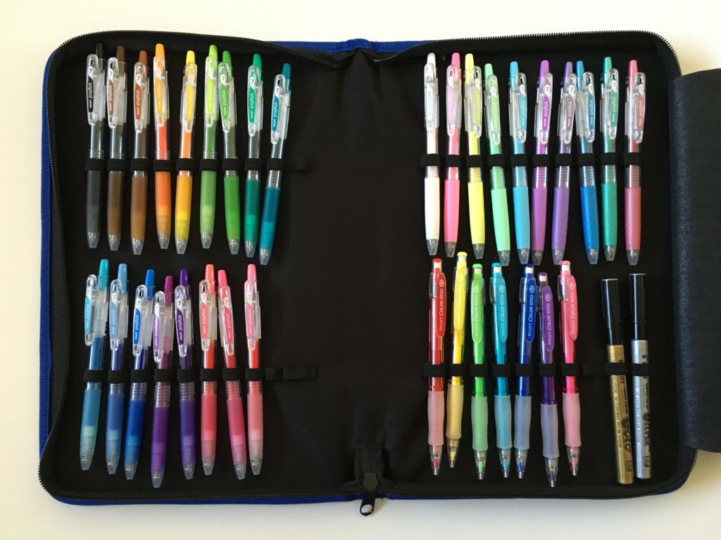 pilot pen case how to store planner pens pilot poplol pop lol pen testing rainbow 0.7mm gel pen recommendation-min
