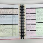 Minimalist planner decorating and color coding using pencils