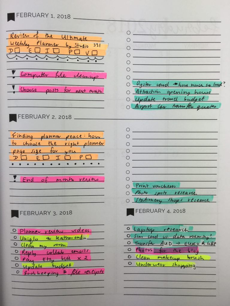 pretty simple weekly planner review amazon 8 x 10 horizontal 2 page spread monday start lined checklist minimalist cute floral highlighters useful color coding-min