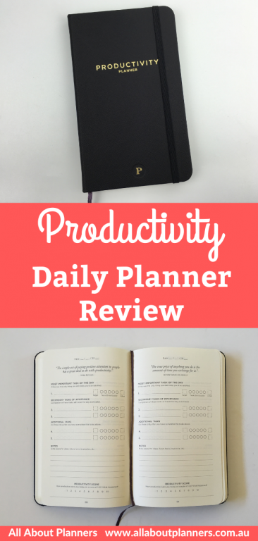 productivity daily planner review pros and cons day to a page layout minimalist 90 day planner video flipthrough