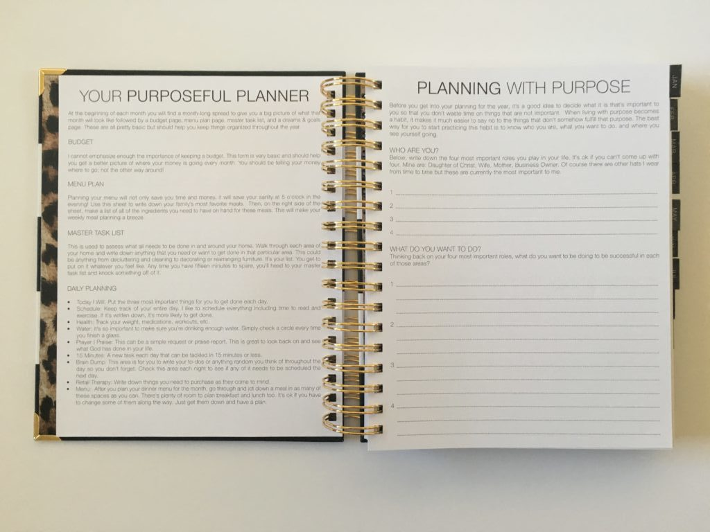purposeful planner review corie clark daily monthly weekly vertical scheduling hourly format flipthrough pen testing swatches pros and cons
