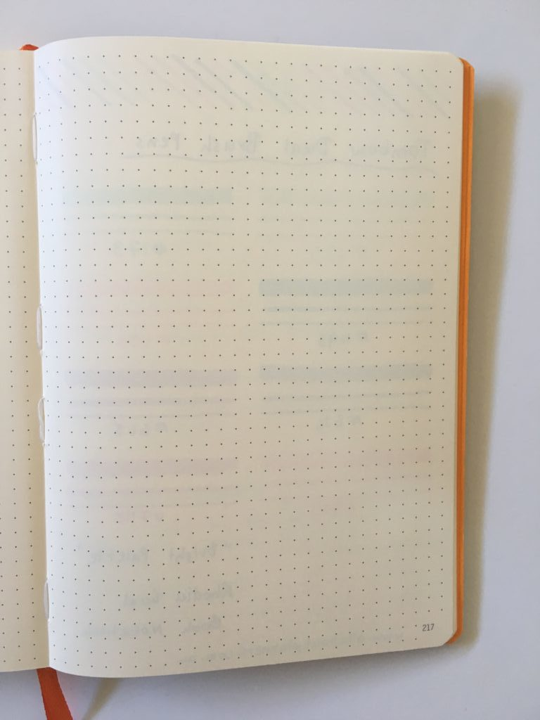 rhodia goal book review tombow brush pen testing bleed through ghosting bullet journal supplies tips inspiration recommendation