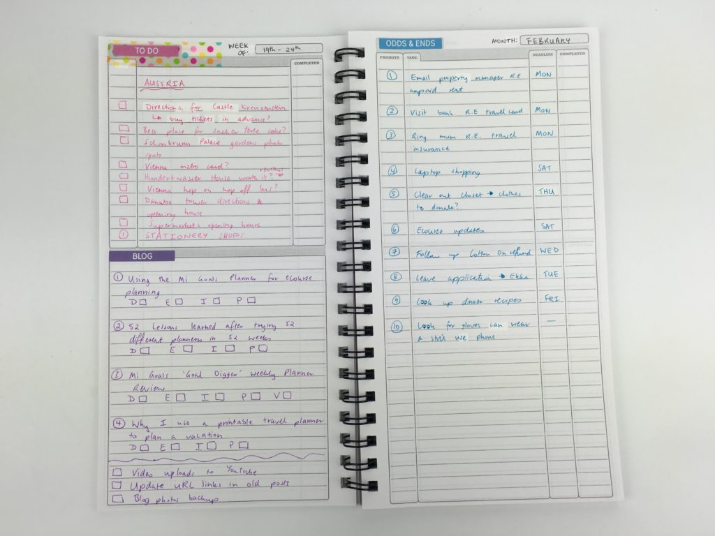 things to do today planner  the perfect planner for list lovers