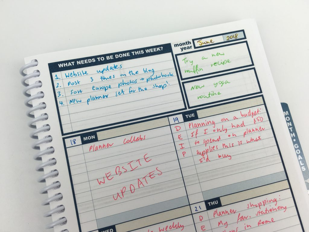 uncalendar weekly planner video review pros and cons color coding tips inspiration ideas alternatives to erin condren popular planner cheap use