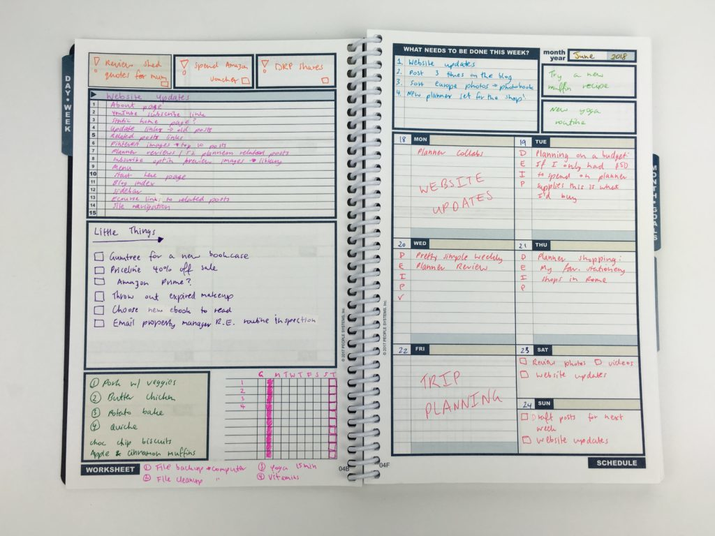using the uncalendar undated weekly planner project blog web redevelopment color coding simple alternative to traditional planner tasks to do checklist color coding-min