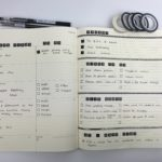 Minimalist black and white weekly spread in the Moleskine Weekly Planner