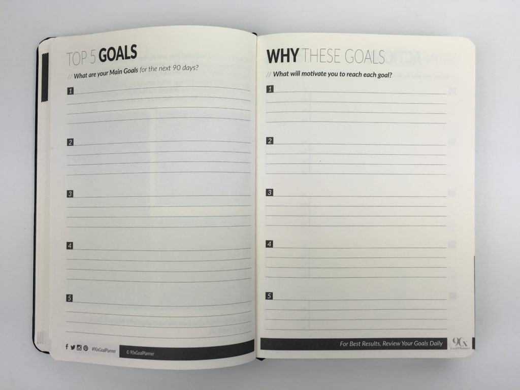 90x goal planner daily day to a page lined top 5 undated review pros and cons