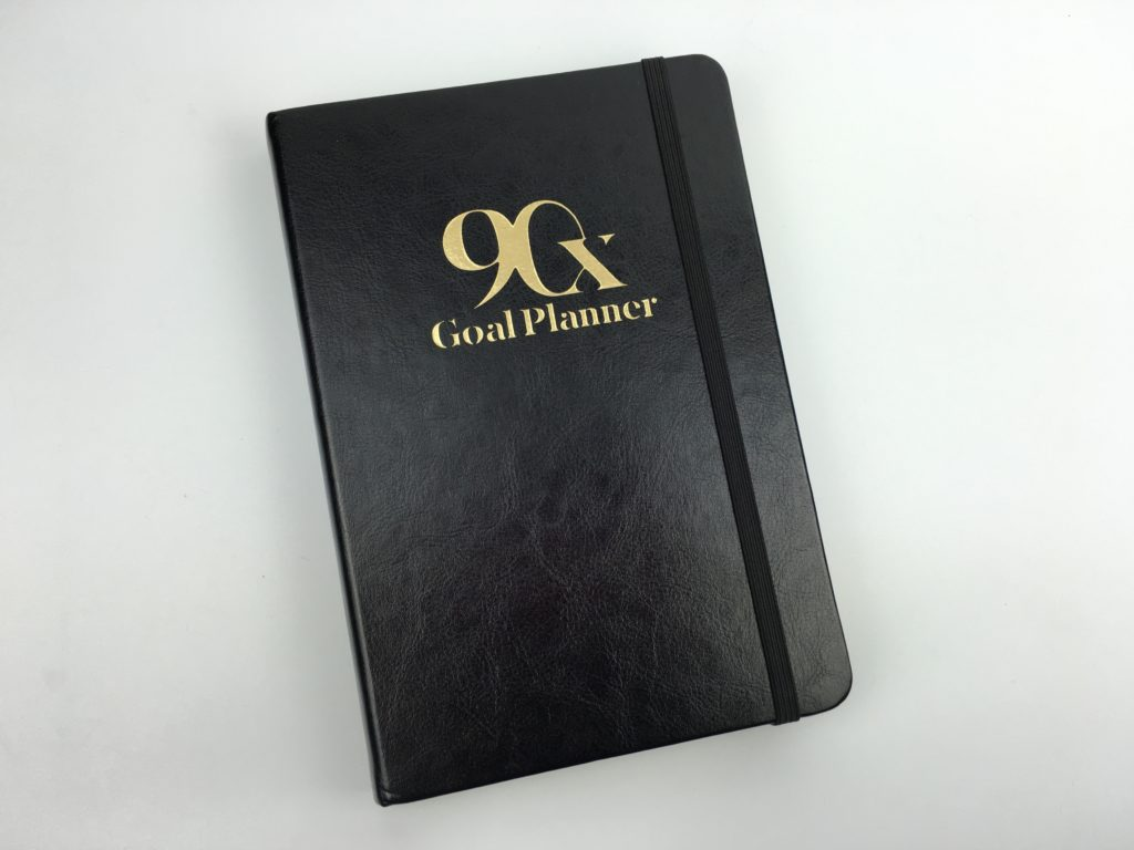90x goal planner review day to a pager daily goal setting productivity blogger entrepreneur work at home influencer hardbound gender neutral-min