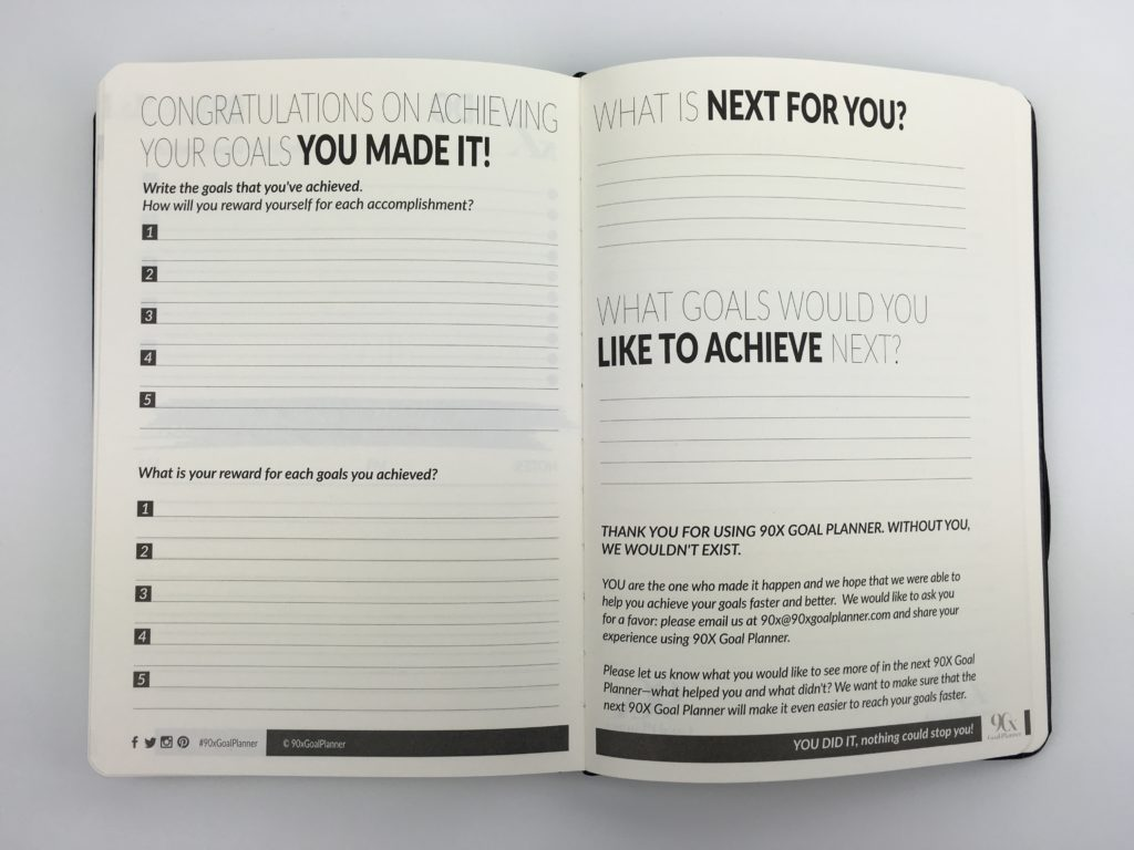 90x goal planner review productivity entrepreneur blogger work at home mom influencer instagrammer countdown task project planning