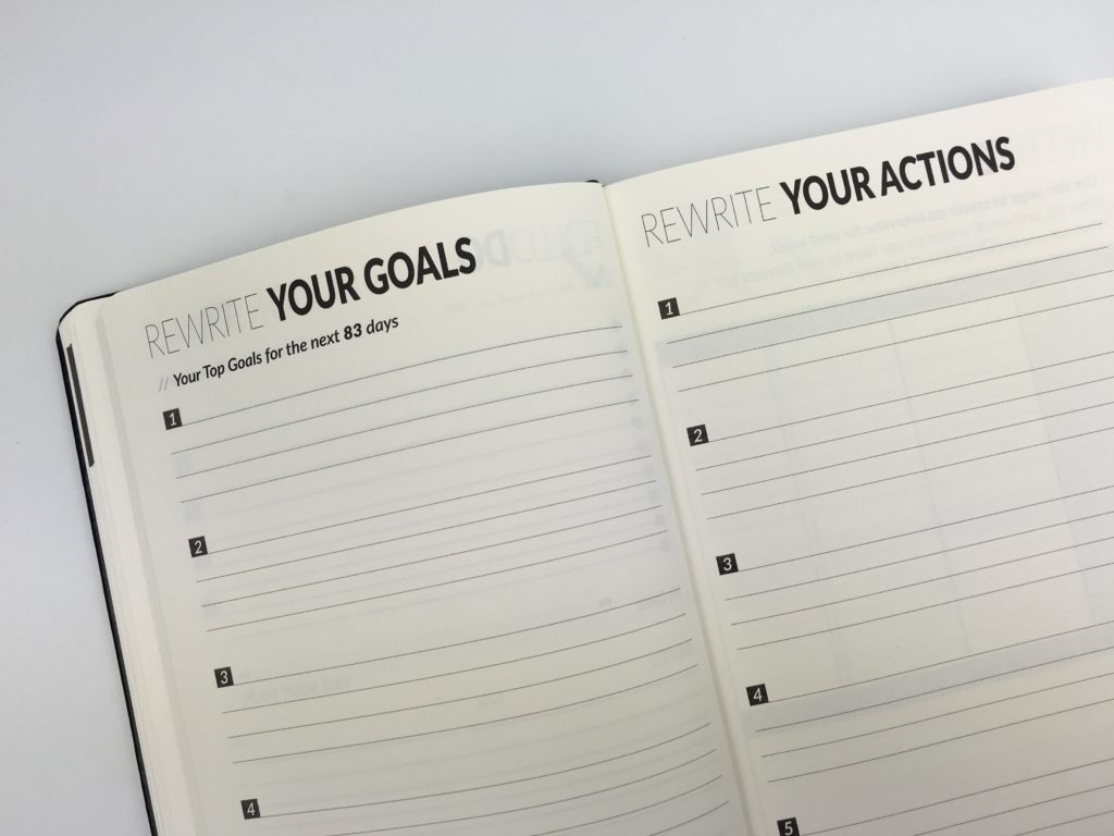 90x goal planner review video honest opinion pros and cons countdown worksheet workbook undated day to a page daily agenda-min