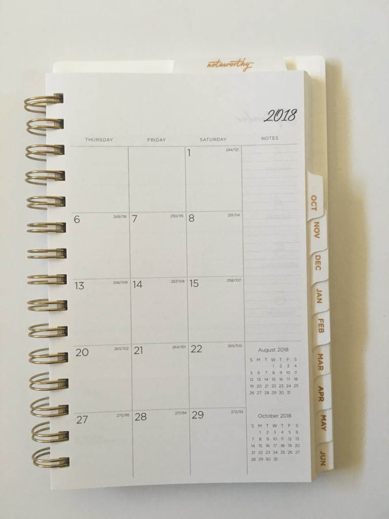 bluesky weekly planner review work personal monthly calendar horizontal weekly spread