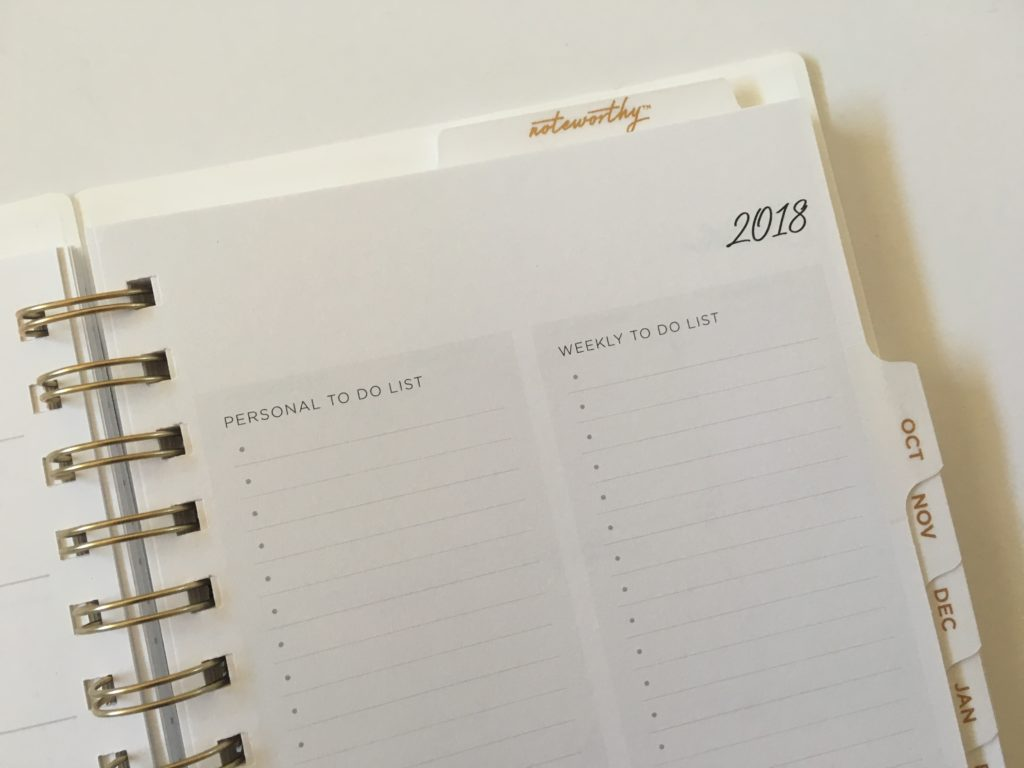 bluesky weekly planner checklists to do work personal a5 minimalist horizontal
